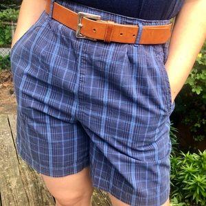 Dockers highwaisted blue checkered shorts